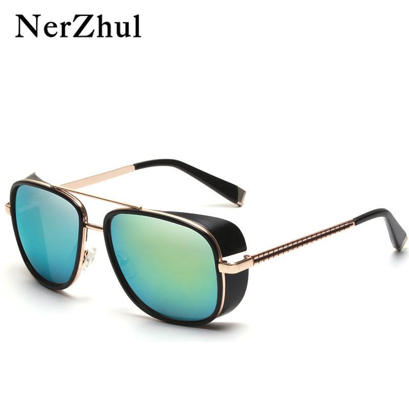 d721c7b5dba NerZhu Iron Man 3 Matsuda TONY Stark Sunglasses Man Rossi Coating ...