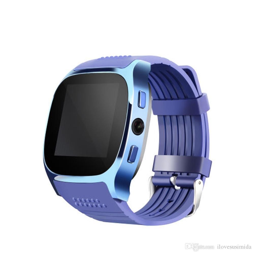For Android New T8 Bluetooth Smart Pedometer Watches Support SIM &TF Card With Camera Sync Call Message Men Women Smartwatch Watch