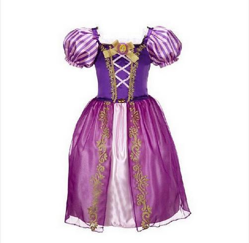 KEAIYOUHUO Girls Dress Rapunzel Aurora Cinderella Dresses For Girls Children's Clothing Party Princess Dresses Costume For Kids