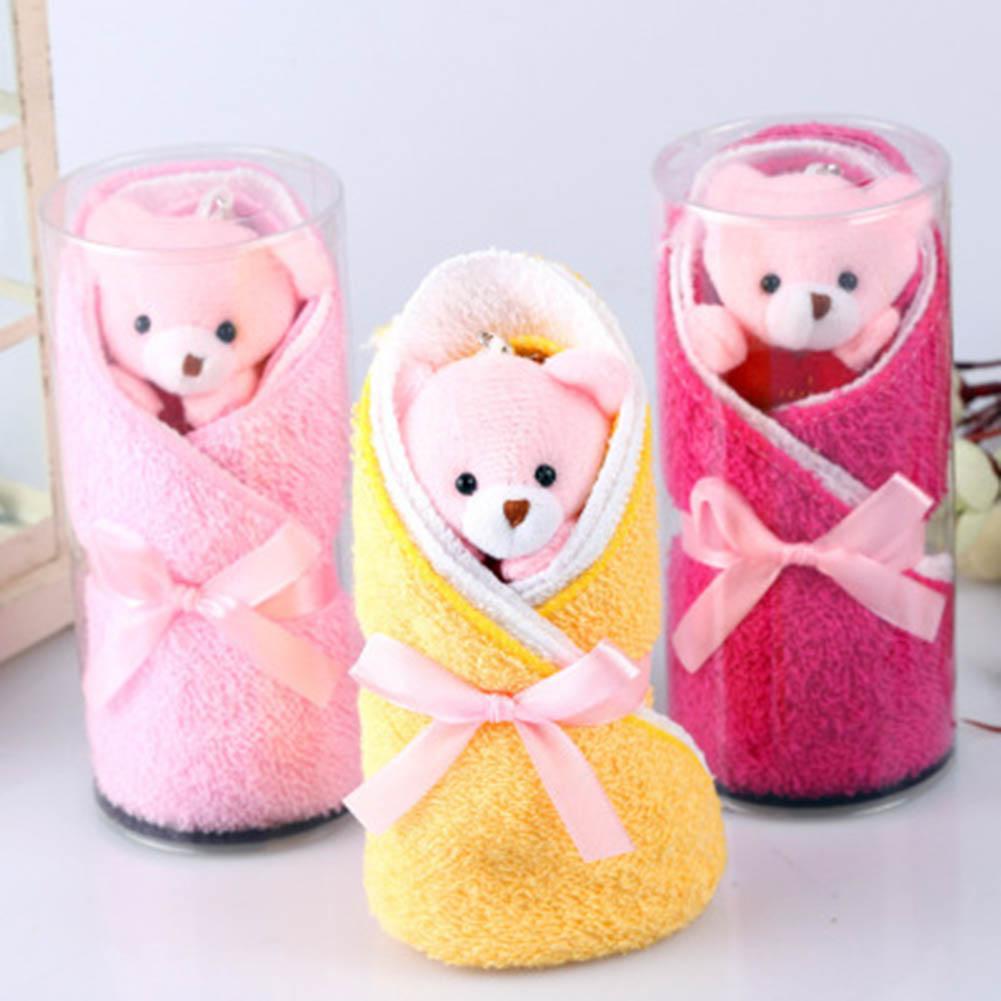 Random Color Cute Bear Style Towel Fibre Creative Towels For Wedding ...