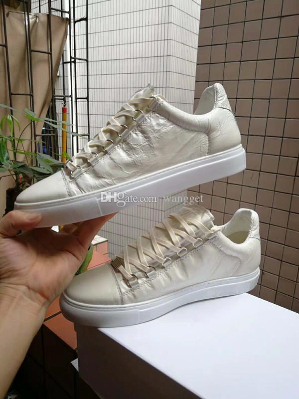 a056f37cd47a7 Hot Sell White Sneakers Red Bottom Men Shoes Low Top Genuine Leather ...