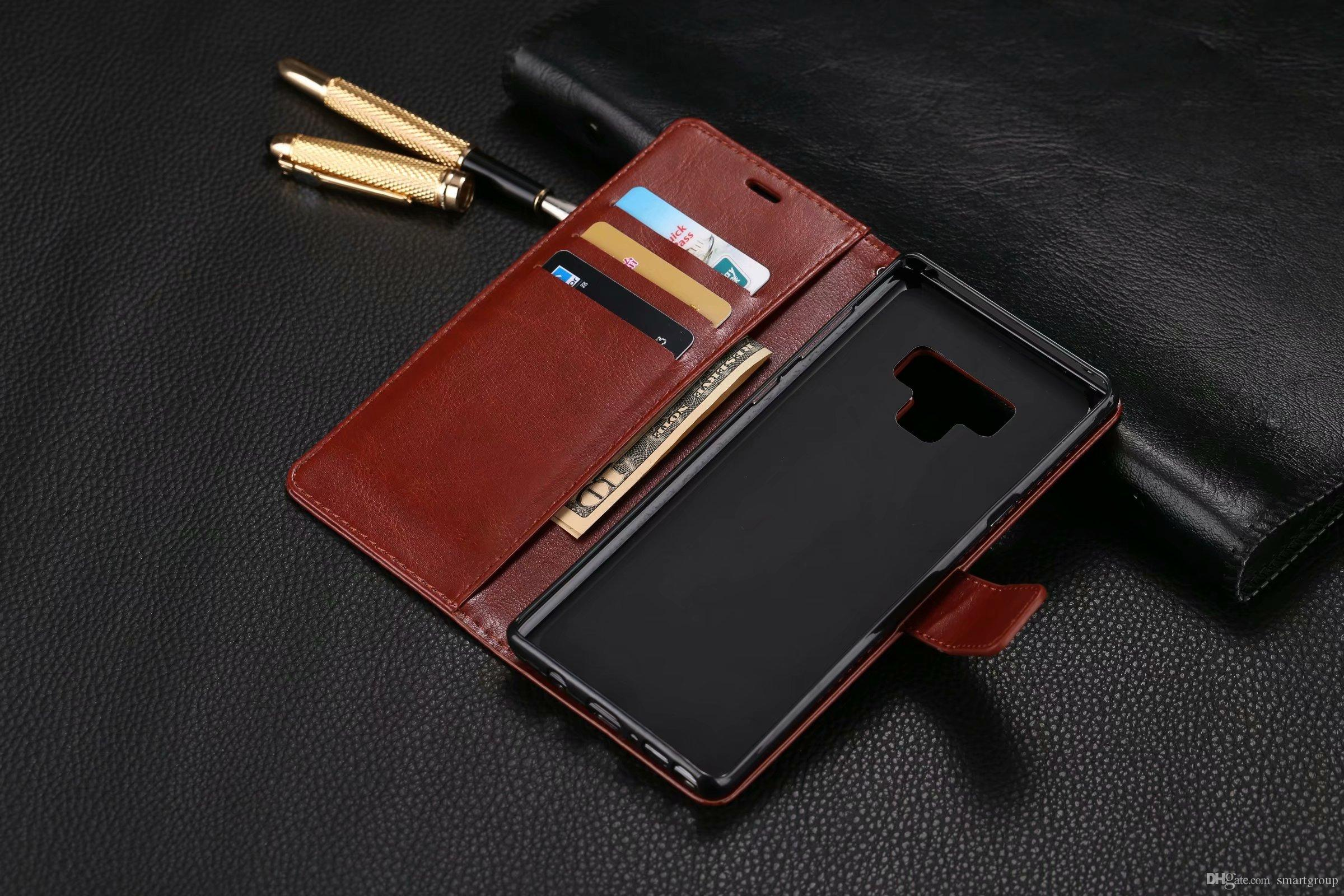 innovative design eb068 564c7 For Samsung Galaxy Note 9 Case PU Wallet Hot Back Cover Luxury Colorful  Flip Leather Case for Samsung Galaxy Note 9