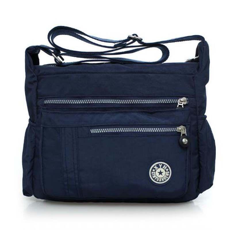 Bolsos de mensajero de las mujeres señoras de nylon bolso de viaje bolsa casual hombro al aire libre femenino de alta calidad de gran capacidad bolsos crossbody
