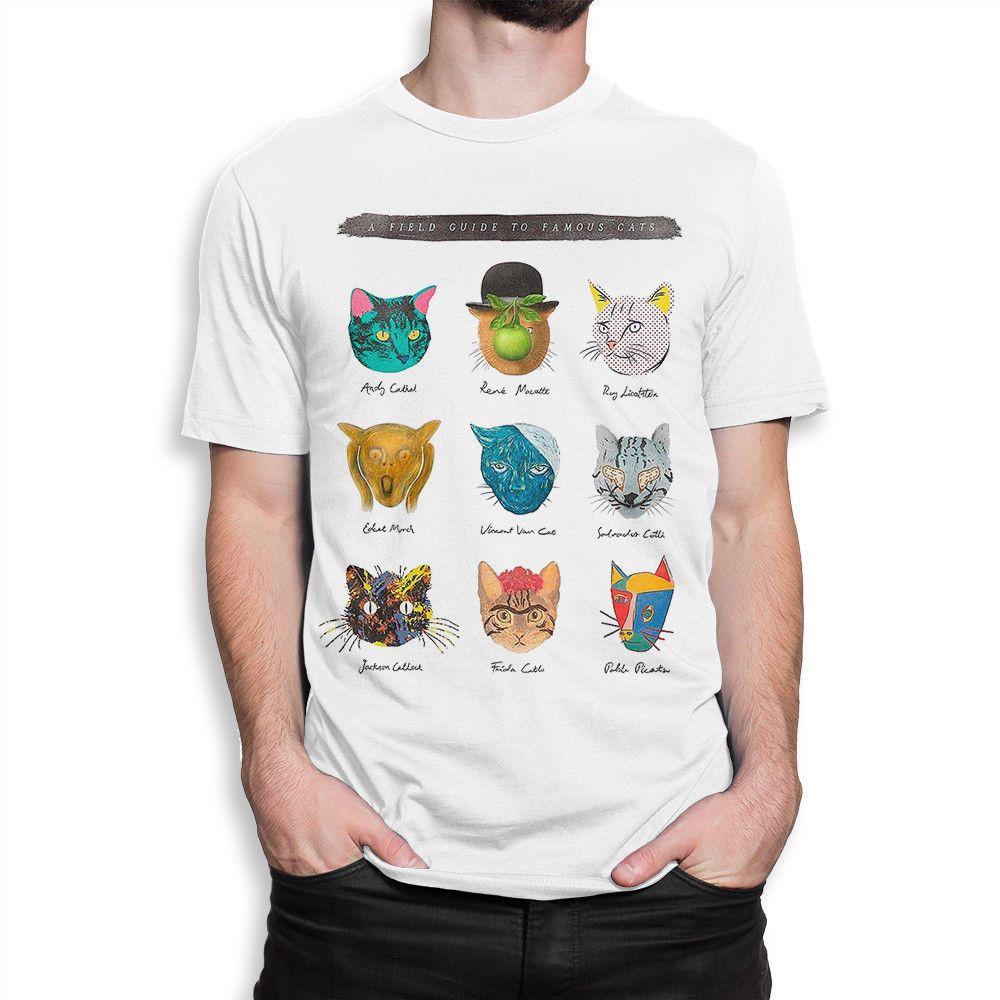 430ec28fdef31 Famous Cats Artists T Shirt , Art Shirts , Men s Women s All Sizes Short  Sleeves Cotton T Shirt Free Shipping Top Tee