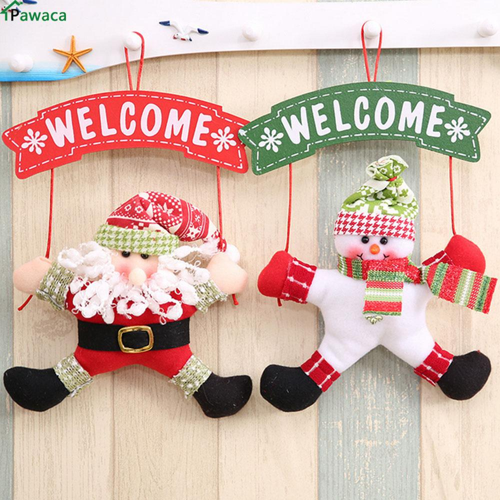 santa claus snowman tree door christmas decoration for home ornament decor hanging pendant christma gift jingle bells decoration buy christmas decorations