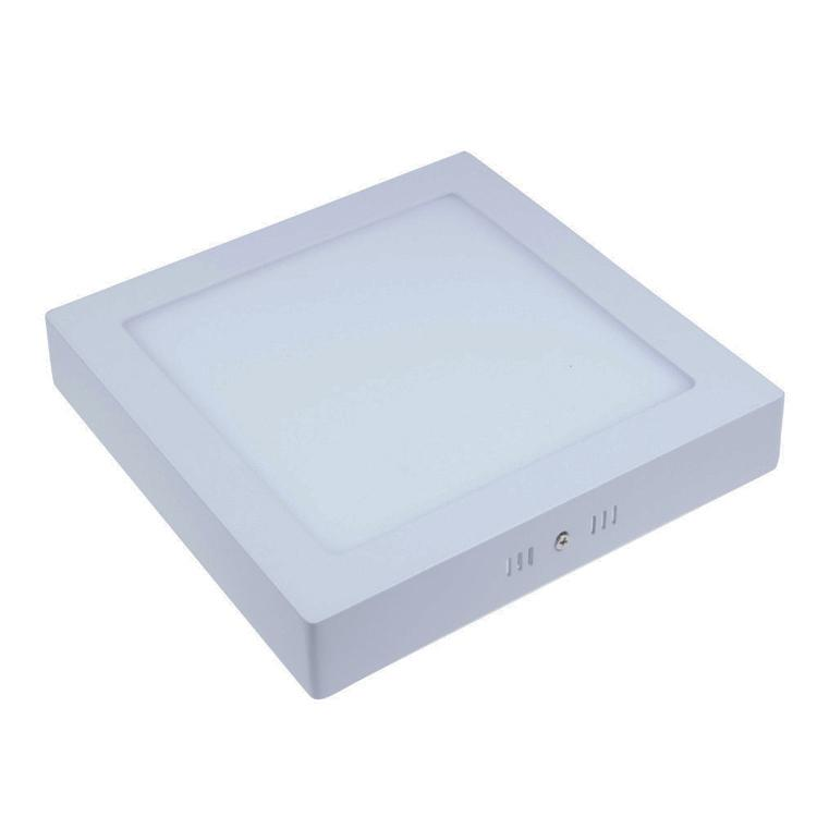 La luminosité élevée de 6W 12W 18W 24W ronde / carrée de surface de panneau de LED a monté la lumière de downlight allumant le plafond vers le bas de la lampe CA 85-265V