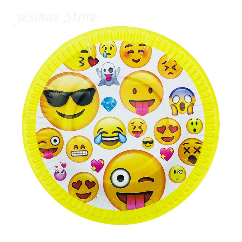 2019 Birthday Party Dishes Kids Favors Decoration Tableware Baby Shower Emoji Theme Paper Plates Supplies From Baolv 2301