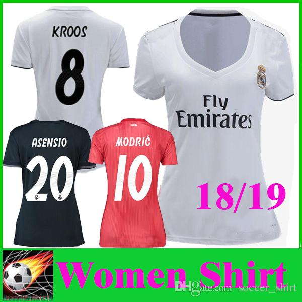 d07b32f11d2 2019 2019 Women MARIANO MODRIC ASENSIO Home Soccer Jersey 18 19 Real Madrid  Away Third ISCO RAMOS KROOS BALE Camiseta Maillot Girls Futbol Shirt From  ...