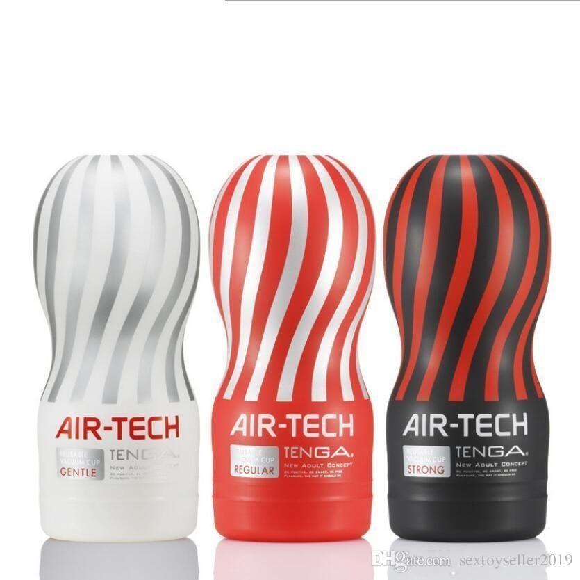 Air-tech Reusable Vacuum Sex Cup ، المهبل ريال الهرة ، كأس الاستمناء الذكور ، ولعب الجنس للرجال ، منتجات جنسية