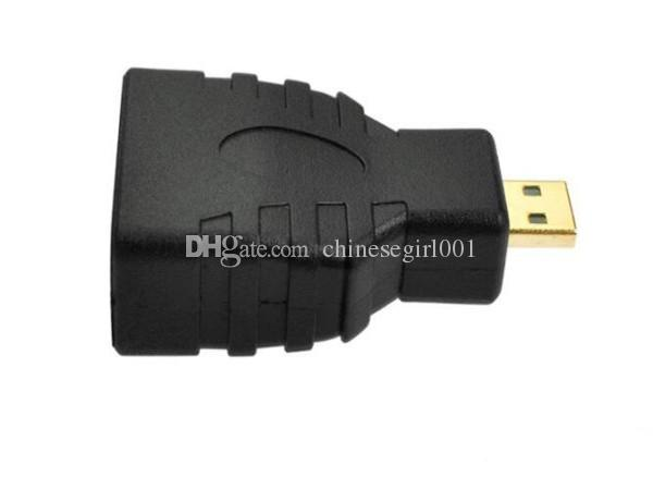 Micro HDMI Type D Male to HDMI Female Type A Adapter Straight Connector Black fast ship