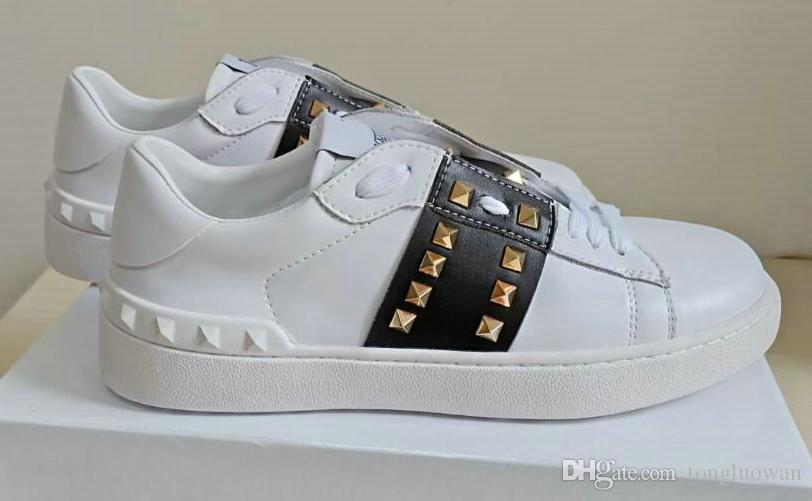 Top spiked nail Casual Shoes Lace Up Designer Comfort Pretty Girl Women Sneakers Casual Leather Shoes Men Womens Sneakers AH1158 browse cheap price 2014 unisex for sale supply cheap price snrTUmuP