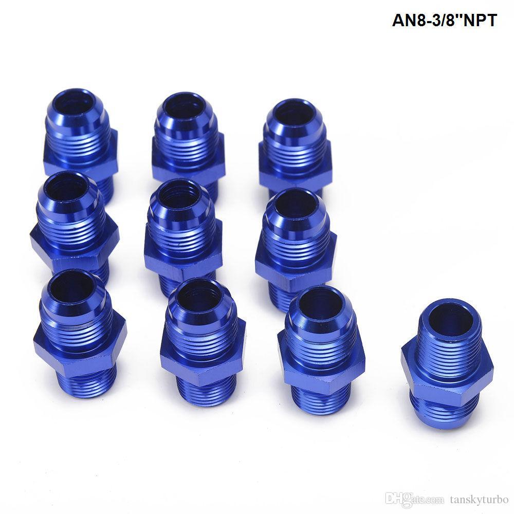 / LOTStraight Flare à Pipe Fil Raccord Adapte Pour Refroidisseur D'huile Conduite D'alimentation / Tuyau D'huile AN8-3 / 8''NPT