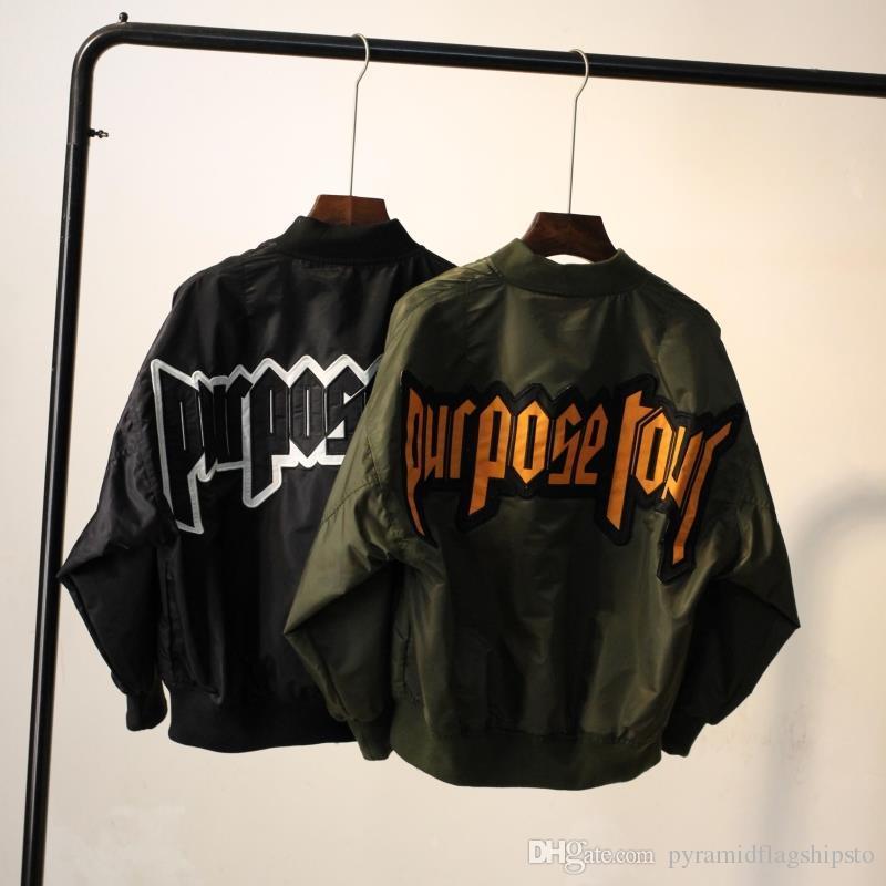 Women's Jackets justin bieber fear of god Purpose Tour Air Force flying jacket MA1 pilot flight bomber Outerwear Women baseball Coat Ladies