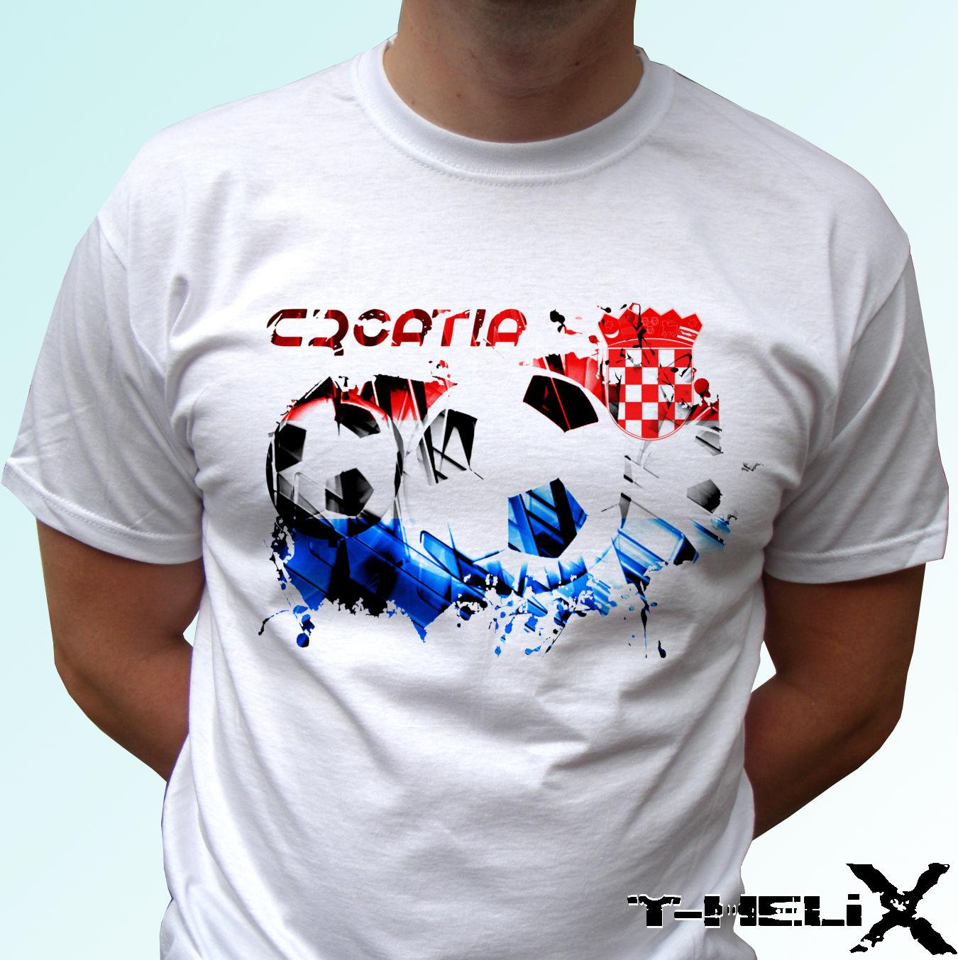 2045bda2c9c6 Croatia Football - White T Shirt Flag Top Design - Mens Womens Kids ...