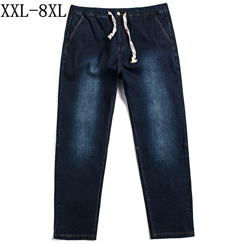 0884769c656 2019 Plus Size 8XL 7XL 6XL Jeans Men 2018 New Casual Straight Denim Jeans  Men Pants Blue Black High Quality Male Brand Clothes From Balsamor
