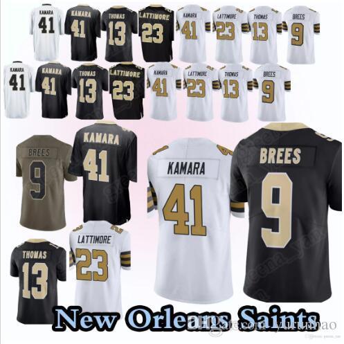 c06b0cfe6 Compre Camisetas De Los New Orleans Saints 9 Drew Brees 41 Alvin Kamara 13  Michael Thomas 23 Marshon Lattimore 28 Camiseta Peterson A  18.28 Del  Yurunhao ...