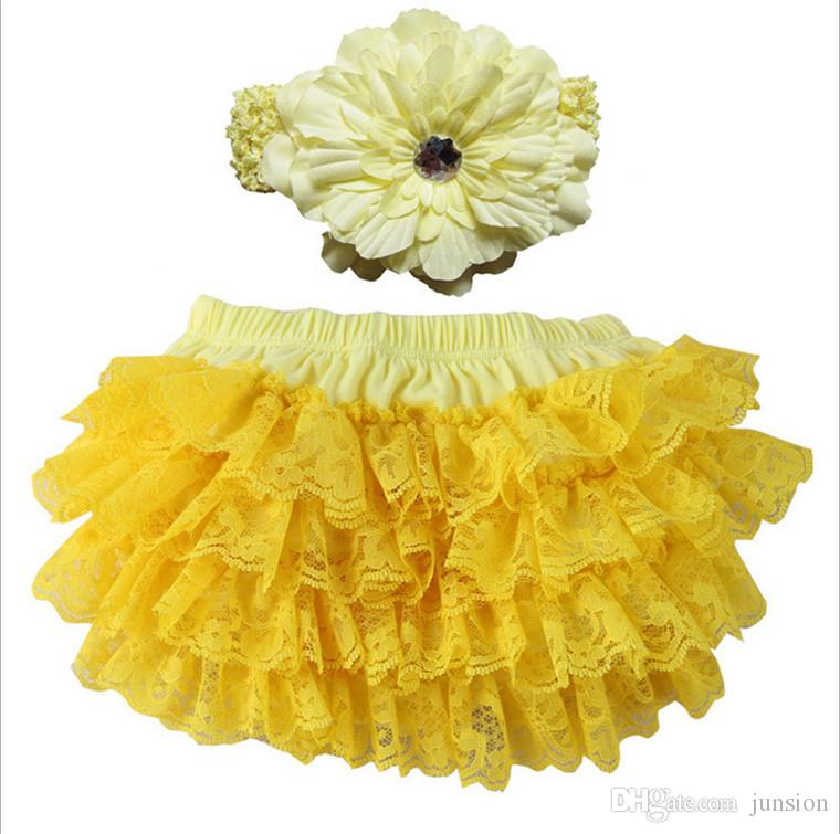 Newest Girls Lace TUTU Dress For Toddlers Ballet Dresses Kids Headdress+Tutu Skirt Children's Dance 10Colour Pettiskirt 2018 New Summer