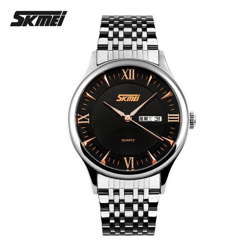 2e357e3a92ae Compre Skmei Hombres Relojes De Primeras Marcas De Lujo Hombres De Acero  Inoxidable Reloj Masculino Reloj De Cuarzo Sport Dress Relojes Para Hombre  Reloj ...