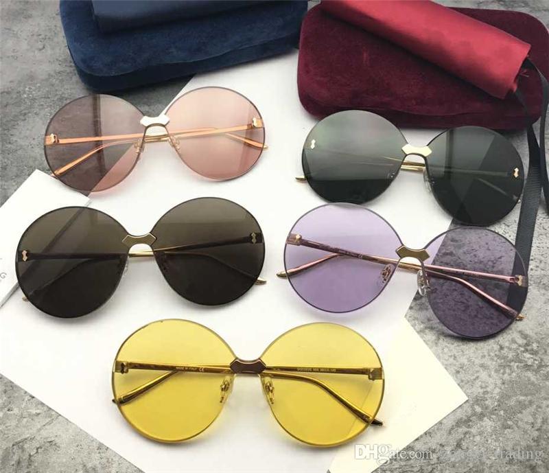 0353S de la alta calidad de lujo del diseñador de moda 5.0 lente de las gafas de los hombres espesor protección UV400 con la caja original 0353