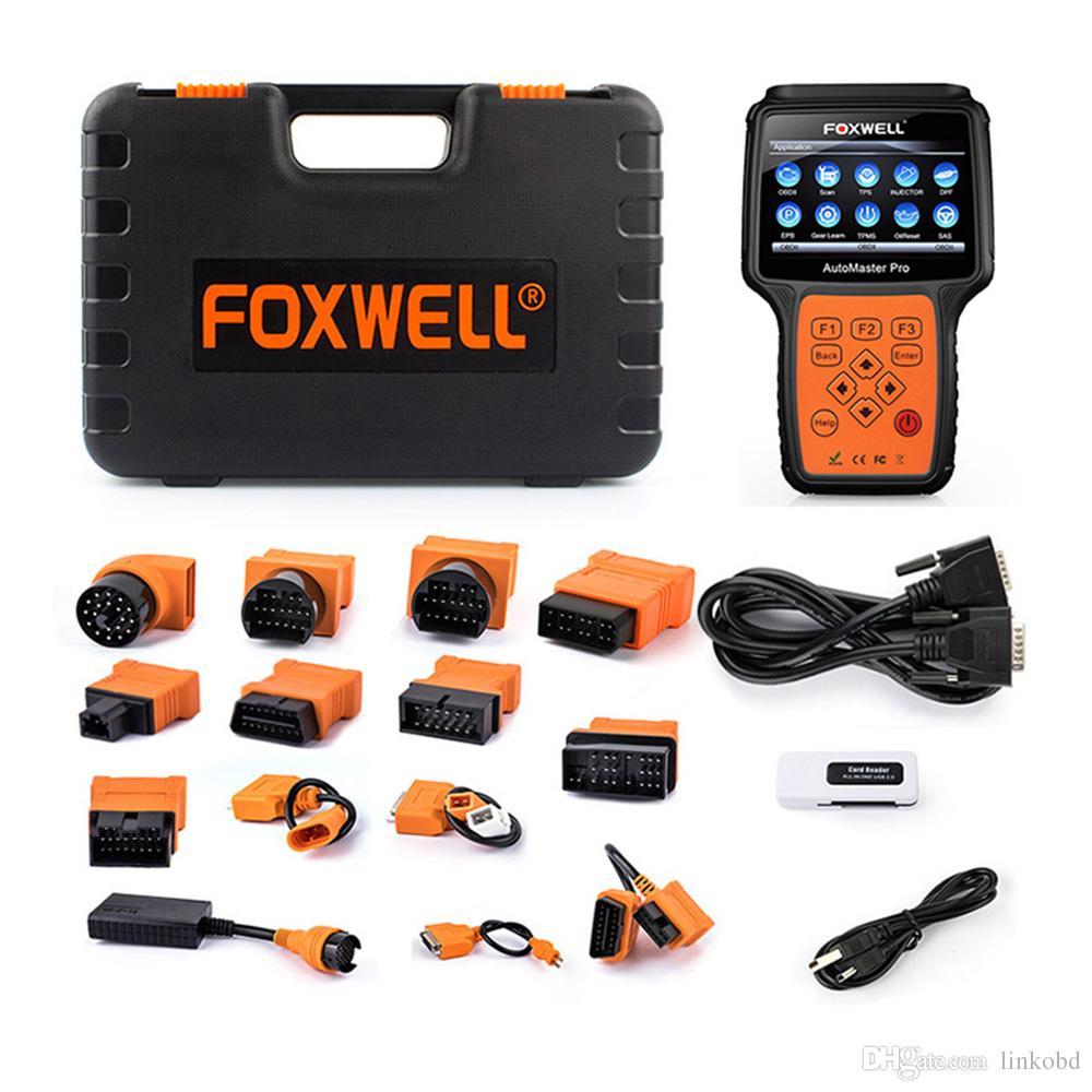 FOXWELL NT644 PRO نظام كامل المهنية السيارات OBD OBD2 أداة تشخيص DPF تجديد TPS سيارة وسادة هوائية ABS إعادة الماسح الضوئي