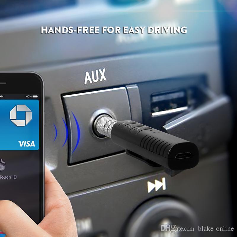 بلوتوث اللاسلكية استقبال الصوت محول 4.1 بلوتوث حر اليدين عدة السيارة جاك 3.5mm مدخل aux السيارات الموسيقى لكيت نظام ستيريو السيارة الرئيسية