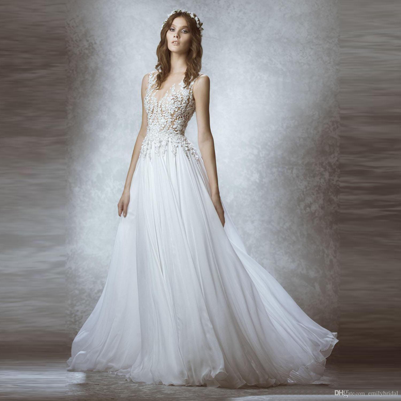 Discount Zuhair Murad Bohemian Wedding Dresses Modest Chiffon ...