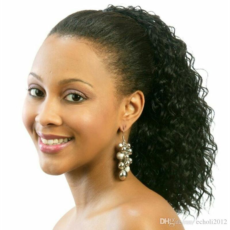 hot selling 120g 4c kinky curly human hair drawstring ponytail virgin kinky hair weaving ponytail human hair extension