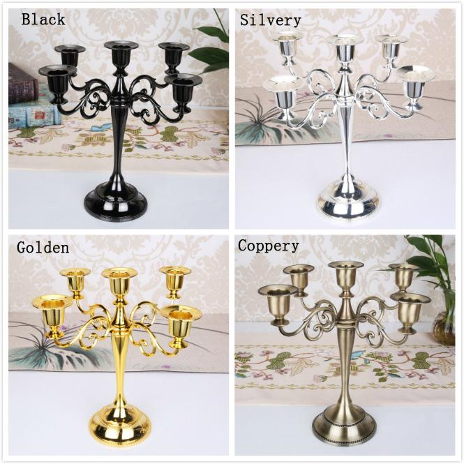 European Antique 5-arms Retro Candle Holder Romantic Candlelight Dinner Home Furnishing Hotel Wedding Decoration