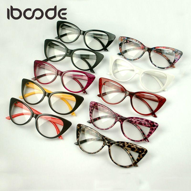 5ea7e781a4 Iboode Classic Cateye Clear Lens Glasses Sexy Women Eyewear Plain ...