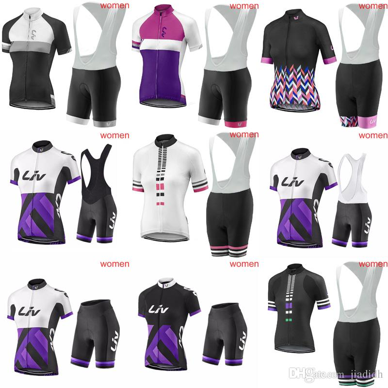 LIV Cycling Short Sleeves Jersey Bib Shorts Sets Hot Style 2018 Summer Ladies  Cycling Clothing Road Bike Jersey Outdoor Sportswear C2920 Best Bib Shorts  ... d878af51a