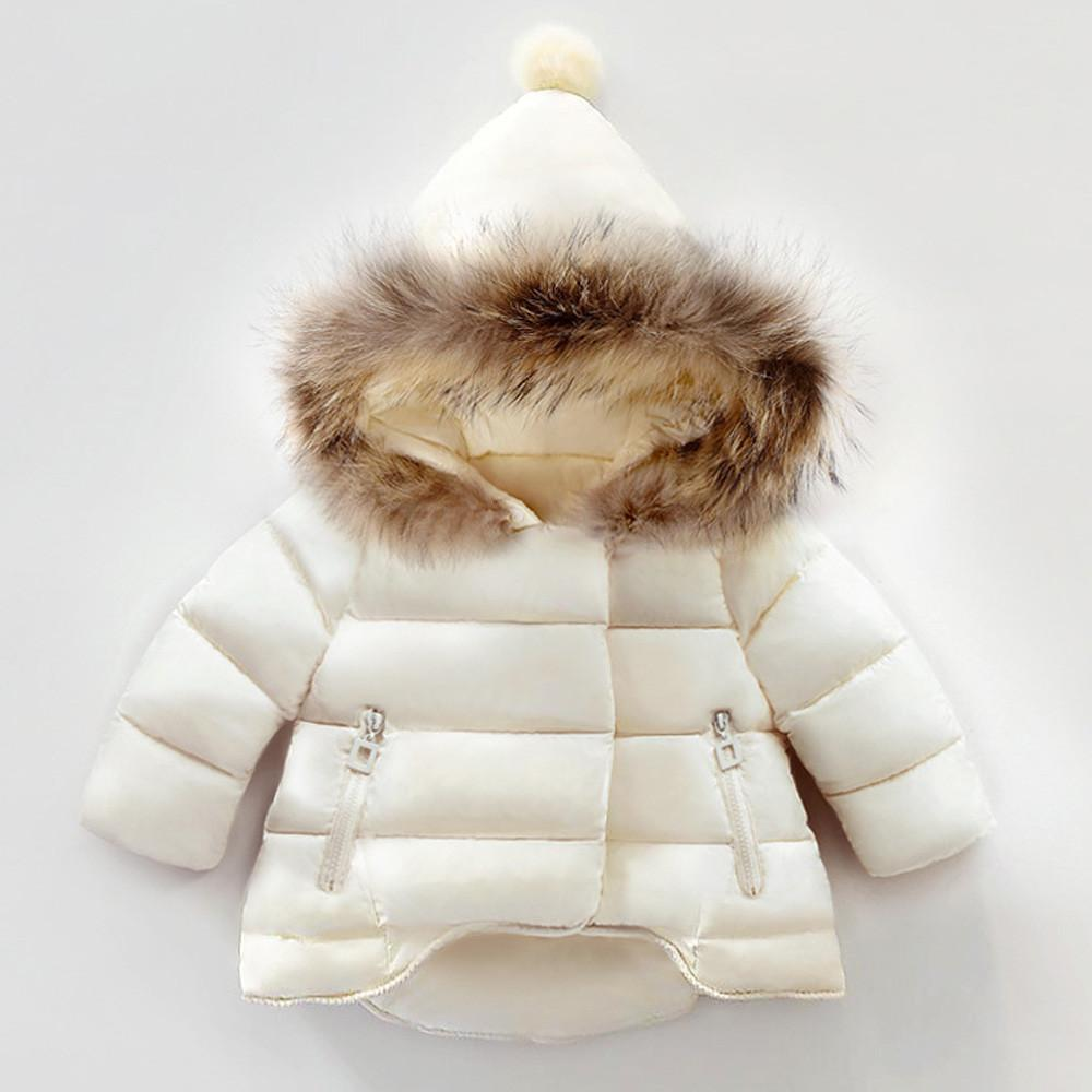 39e2b798092f Baby Girls Boys Kids White Autumn Winter Warm Coat Triangle Hat ...