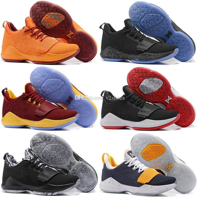 online store 55466 d0058 Paul George PG1 Men Basketball Shoes Shining Ferocity PG 1 Los Angeles Home  Sports Sneaker Shoes 40-46