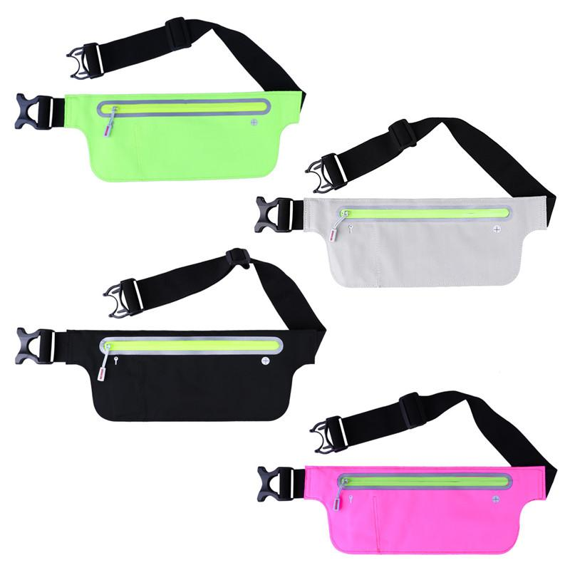 6a65d72120fc Unisex Running Belt Waist Pouch Fitness Workout Belt Waist Pack Bag for  Most Smartphones Waterproof Running Bag