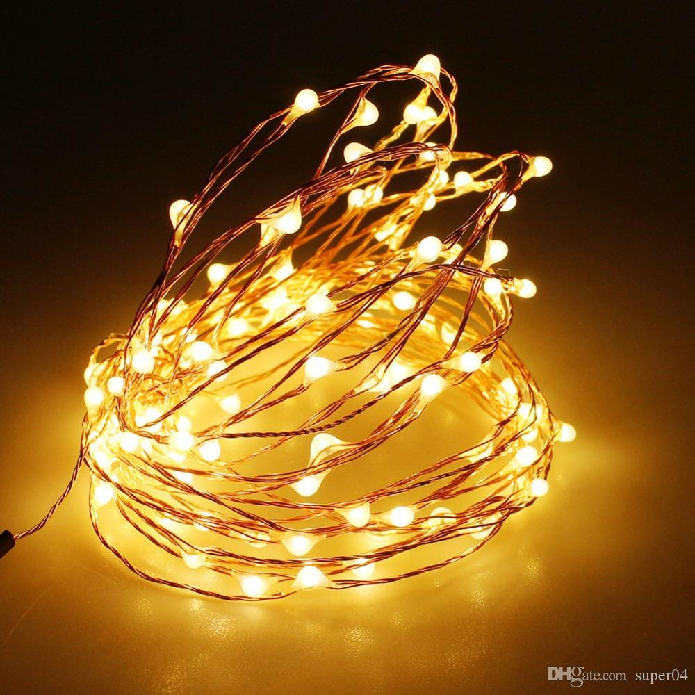 3aa battery powered 4m 40 led strip copper wire christmas lights decoration holiday lighting with battery box led string light string lights bedroom string