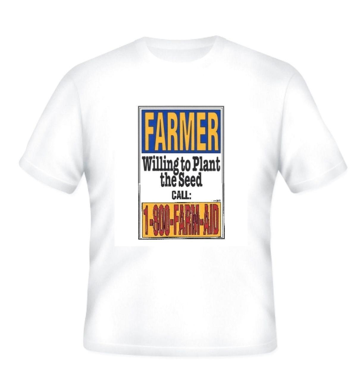 Großhandel Neuheit T Shirt Bauer Der Bereit Ist Das Samen Mens T