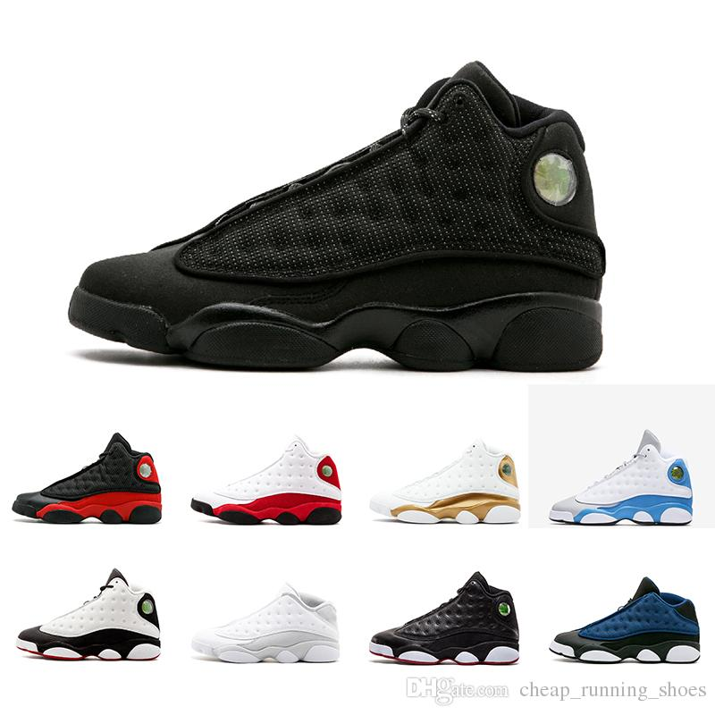 0dcfce71e581d4 2018 Newest 13 13s Men Hyper Royal Pure Money Black Cat Playoffs Hyper Navy  DMP Basketball Shoes 13s Sports Shoes Sneaker Size 41 47 Sneakers On Sale  East ...