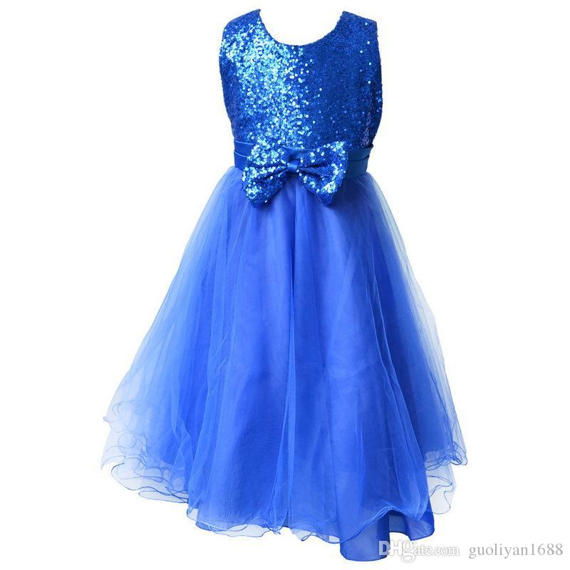 Flower girl dresses Children dresses Kids wedding party dress baby girls' dresses for size 2-8 years