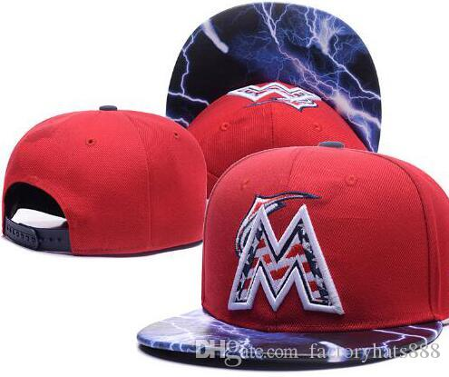 2018 Sports Marlins Hat Baseball KC Cap Embroidery Thounds Styles Outlet  Snapback Snap Back Adjustable Snapbacks Sport Hat Drop Ship 002 Wholesale Hats  Caps ... abb6034618a