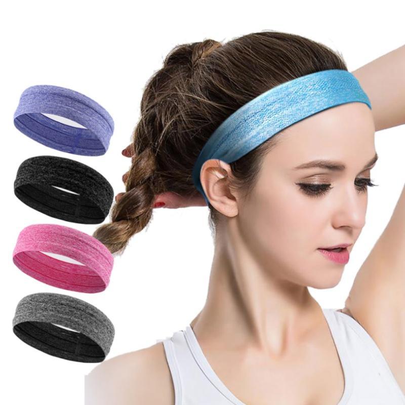 2018 Women Absorbing Sweat Yoga Headband Elasticity Turban Sports ... 2e96249d58