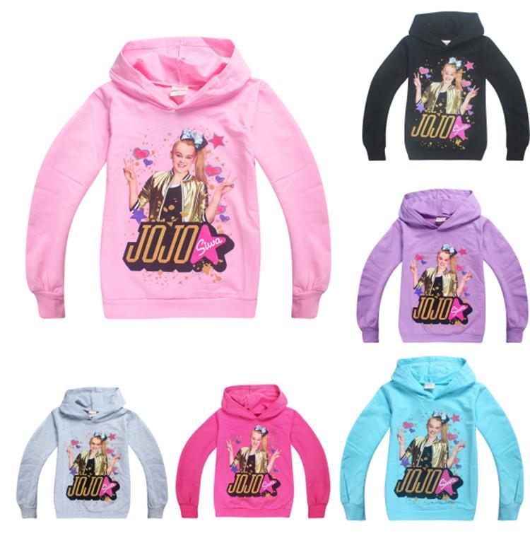 cc84839a91b81 Acheter 2018 Mode Jojo Siwa Hoodies Bébé Fille T Shirt Printemps Automne À Manches  Longues À Capuche Pour Enfants Nouvel An Chandail T Shirt Pour Filles ...
