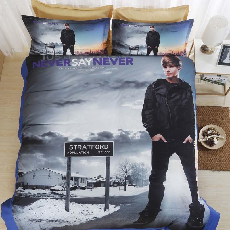 Großhandel Kinderbett Bettwäsche Set 3d Justin Bieber Gedruckt