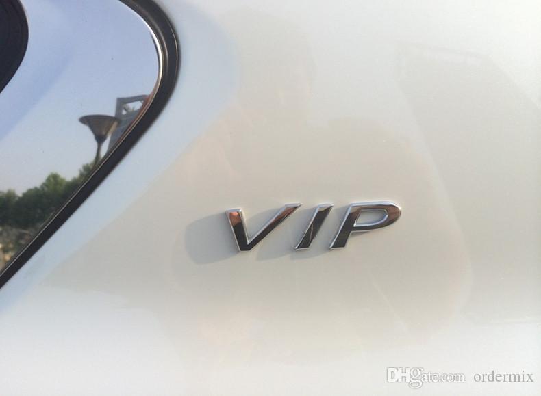 Car-Styling 3D Metal VIP Emblem Door Window Stickers For BMW Audi VW KIA Toyota Ford Nissan Mazda Chevrolet Stickers Accessories
