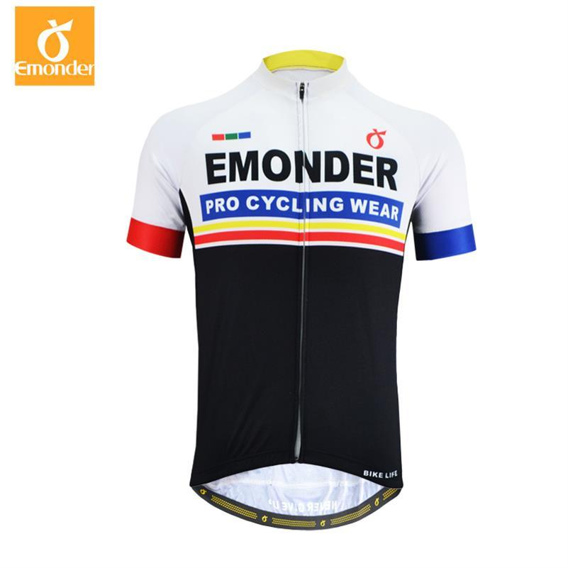 EMONDER Cycling Jersey 2018 Pro Team Bike Bicycle Jersey Men Short sleeve Dry Mesh Outdoor Sports Downhill Jerseys Ropa Ciclismo