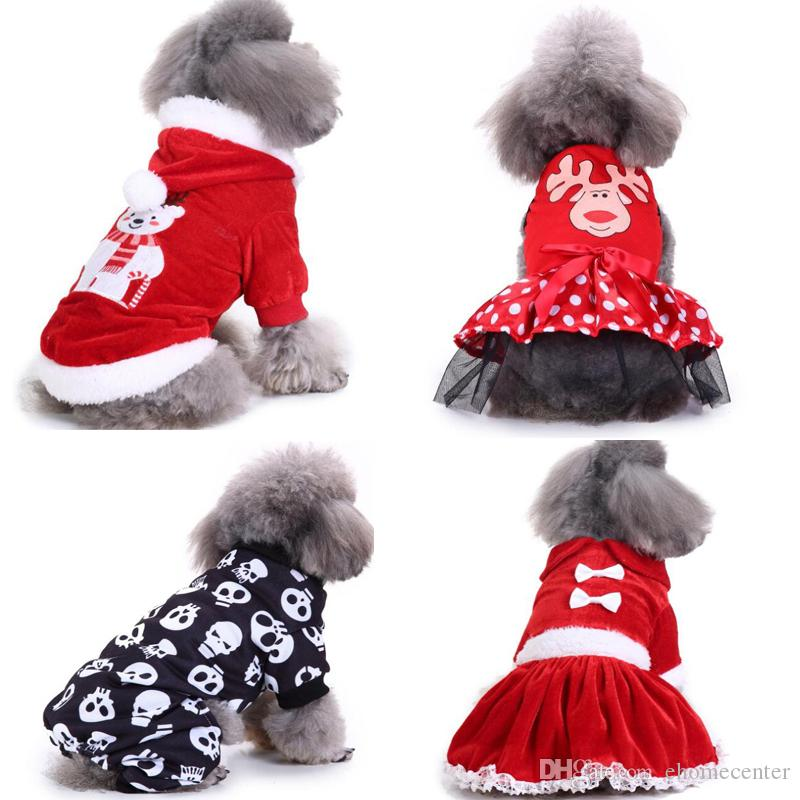 2019 Small Dog Christmas Clothes Pet Hooded Clothes Apparel Costume