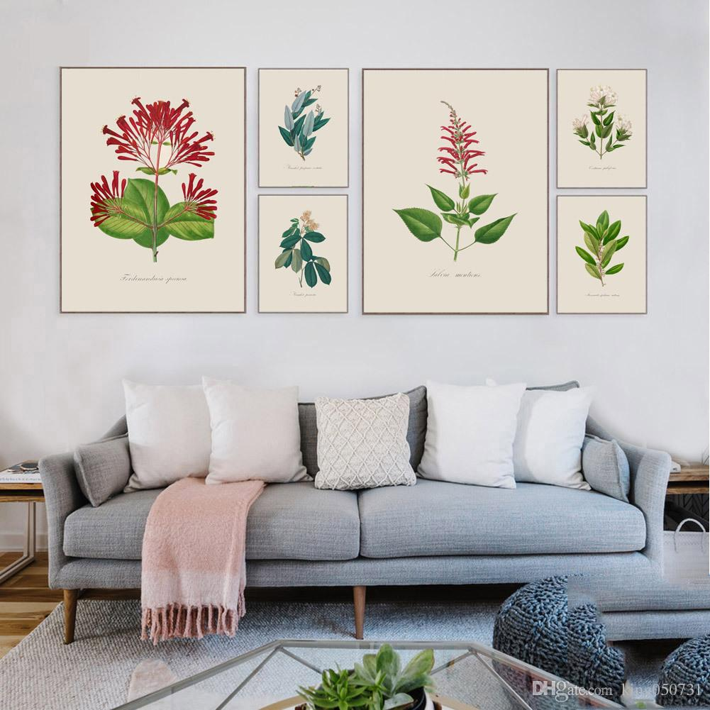 2018 Tropical Plant Leaves Canvas Art Print Painting Art Hd Print ...