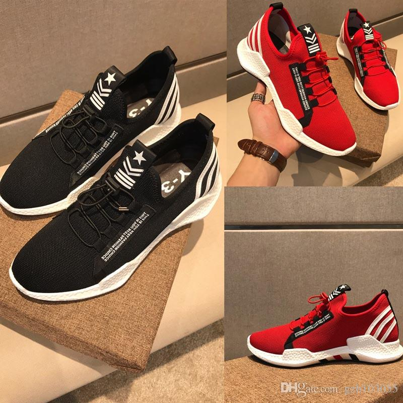 a75ab4e99 2018 New Arrive High Quality Y 3 Mesh Ventilation Sneaker Y3 Men Slip On  Casual Shoes Black Red Yohji Y3 Sneakers Size 38 45 Shoe Shops Brown Shoes  From ...