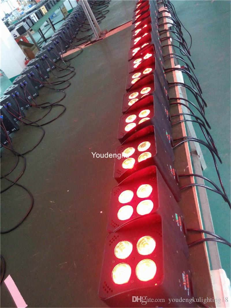Şarj çantası ile 12 parça Wifi kontrol 4x12 W RGBWA UV 6in1 led'ler pil güç kablosuz dmx için led par kutular uplight düğün