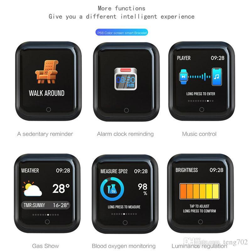 Tracker Android 38mm Reloj De Cardíaco Actividad Ios Fitness Presión Arterial Inteligente P68 Oxígeno X Monitor Deporte Iphone Ritmo Ful3KJT1c