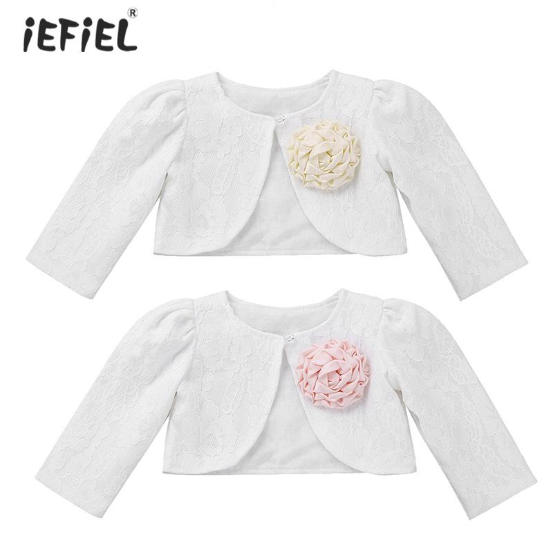 756c1d3df Baby Girls Clothes Lace Coat Long Sleeve Short Cardigan Coat One ...