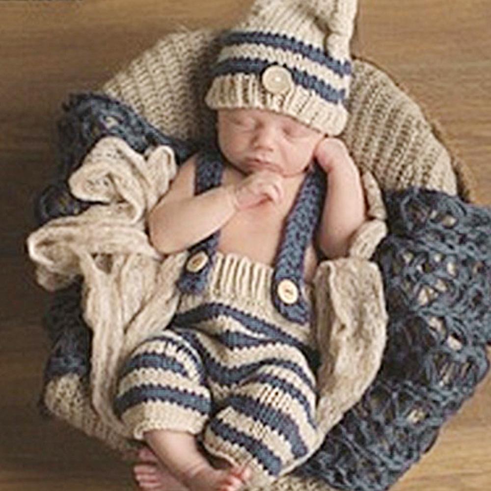 7b1f0c0bc658e Acheter Nouveau Né Bébé Photo Photographie Prop Fille Garçons Crochet Tricot  Costume 0 4 Mois Photographie Photographie Prop Crochet Tricot Costume De  ...